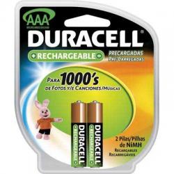 Pilha AAA Recarregavel 2uds 1000mah Duracell