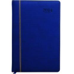 Agenda Pequena Anual 2015 Couro Sintetico Azul mpt320010004  (Para anotações PROMOÇÃO)