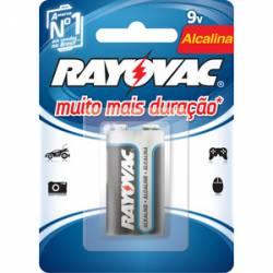 Bateria 9v Pilha Alcalina Rayovac