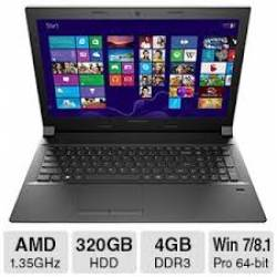 Notebook. Lenovo AMD E1-6010 4gb/320gb/15.6T Preto Windows 8