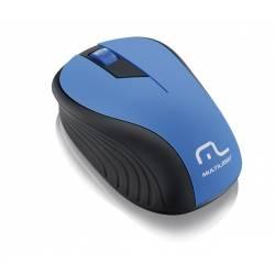 Mouse Usb Optico s/Fio Preto Azul mLtMO215 Multilaser