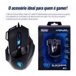 Mouse Usb Optico Gamer OM703 Preto Fortrek