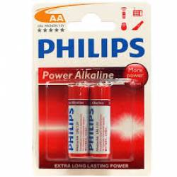 Pilha AA 2A Alcalina 2uds Philips
