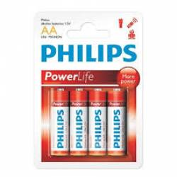 Pilha AA 2A Cartela c/4 Alcalina Philips