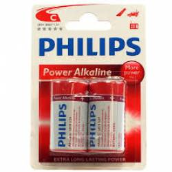 Pilha C Media Alcalina 2uds Philips