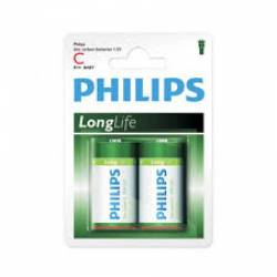 Pilha C Media Long Life c/ 2uds Pilhips