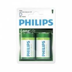 Pilha D Grande Long Life  2uds caixa c/ 24 Philips
