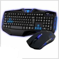 Teclado e Mouse Optico Gamer c/Fio Blue Reinforcement Iron Fortrek