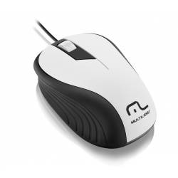 Mouse Usb Optico Emborrachado Branco/Preto LtMO224 Multilaser