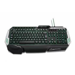 Teclado USB Profissional Gamer Preto e Prata mLtTC189 Multimidia