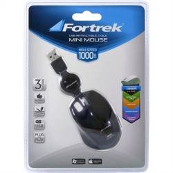 Mouse Usb Optico Mini Ret. MM601 Preto Fortrek